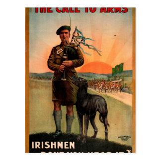 The pipes are calling 1916_Propaganda Poster Postcard