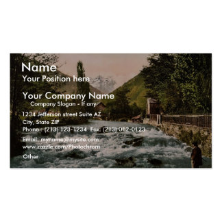 The Pique Waterfall, Luchon, Pyrenees, France clas Business Card Template