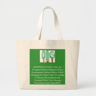 The Piracy Of Green Politics Large Tote Bag