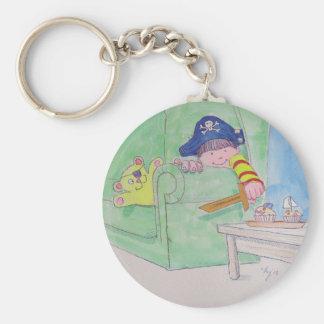 The Pirate! Basic Round Button Keychain