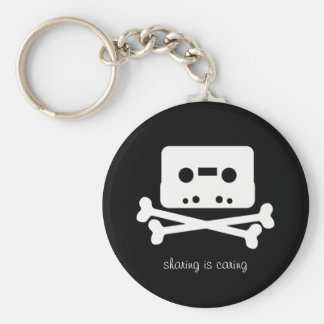 The Pirate Bay Cassette Tape Basic Round Button Keychain