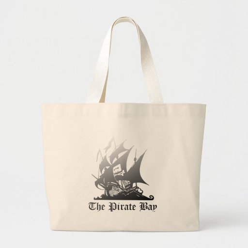 The Pirate Bay Grey To Black Canvas Bag