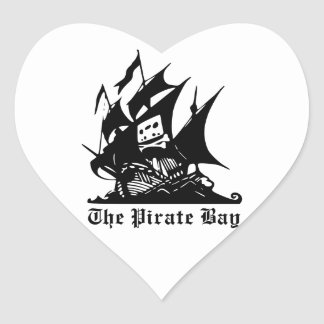 The Pirate Bay Logo Heart Sticker