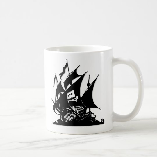 The Pirate Bay Logo Ship Coffee Mug