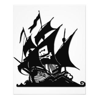 The Pirate Bay Logo Ship Flyer