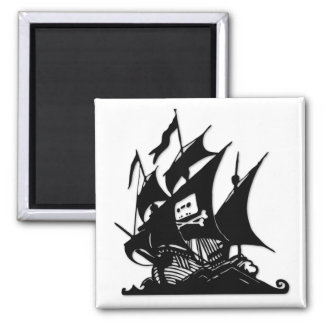 The Pirate Bay Logo Ship Magnet