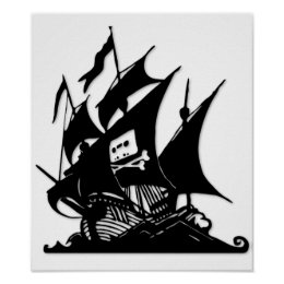The Pirate Bay Logo Ship Poster