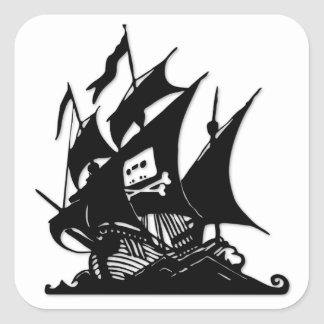 The Pirate Bay Logo Ship Sticker