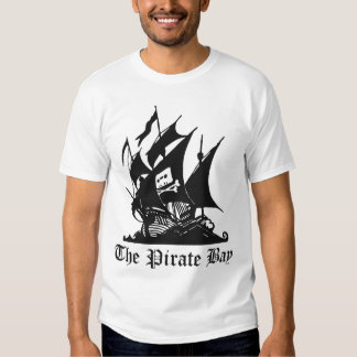 The pirate bay logo with logo on back t-shirt