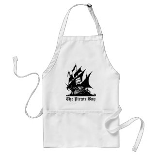 the pirate bay pirate ship logo adult apron