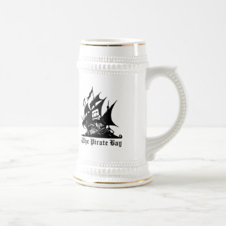 the pirate bay pirate ship logo beer stein