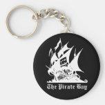 the pirate bay pirate ship logo basic round button keychain