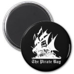 the pirate bay pirate ship logo 2 inch round magnet