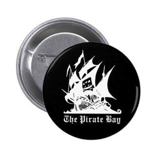 the pirate bay pirate ship logo pinback button