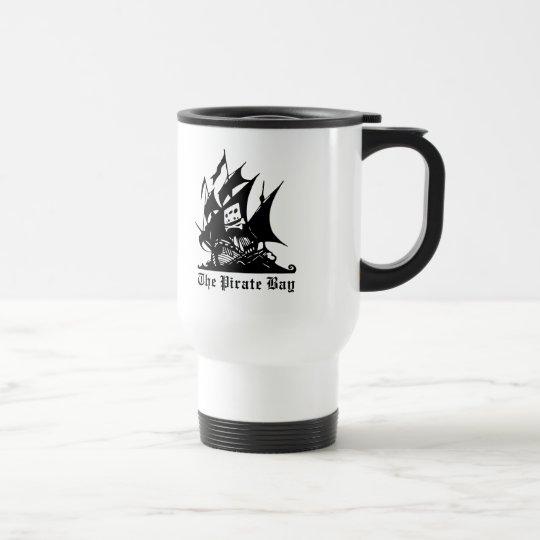 the pirate bay pirate ship logo travel mug
