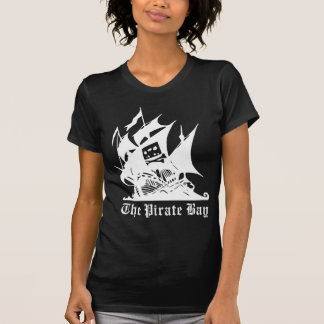the pirate bay pirate ship logo t-shirts