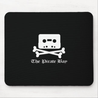 The Pirate Bay White Crossbone Logo Mouse Pads