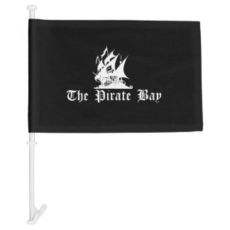 The Pirate Bay Car Flag