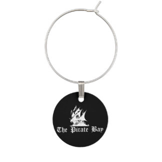 The Pirate Bay Wine Charm