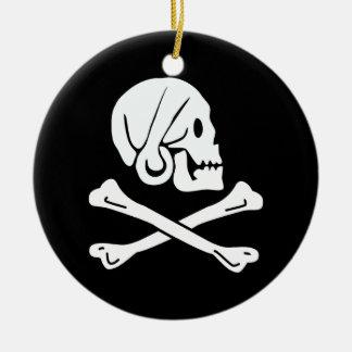 The pirate henry flag ceramic ornament