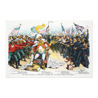 The Pirate Publisher Centerfold in Puck 1886 Canvas Print