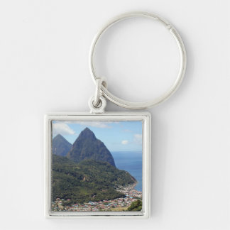The Pitons and Soufriere Keychain