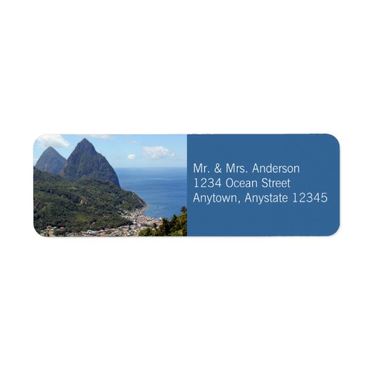 The Pitons and Soufriere Label
