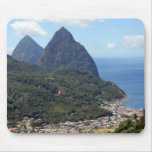 The Pitons and Soufriere Mouse Pad