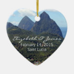 The Pitons and Soufriere Ornament