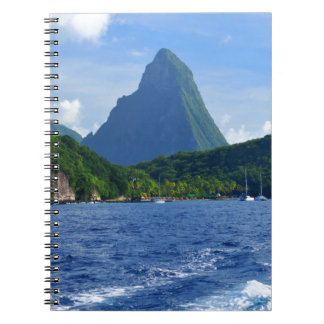The Pitons in Saint Lucia Notebook