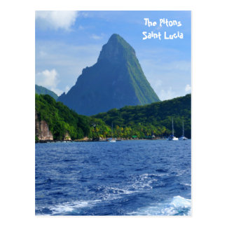 The Pitons in Saint Lucia Postcard