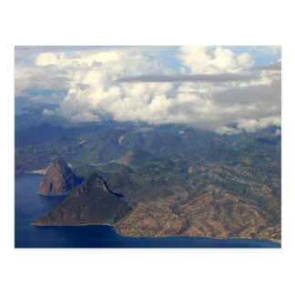 The Pitons Postcard