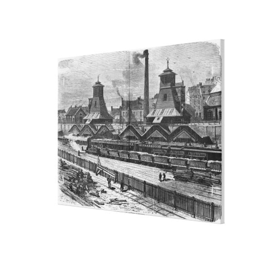 The Pits of St. Pierre & St. Paul at Le Canvas Print