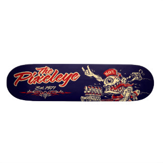 The Pixeleye - Red N.O.T. Skateboard Deck