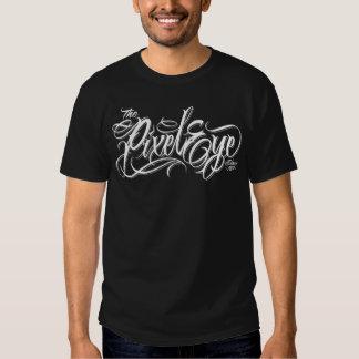 The Pixeleye - Script Black T-shirt