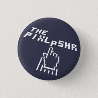 The Pixl Pshr Logo White Pin