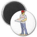 The Pizza Man Fridge Magnets