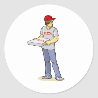 The Pizza Man Stickers