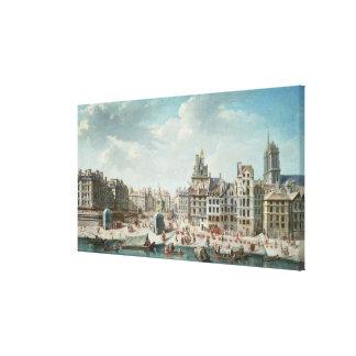 The Place de Greve, Paris Canvas Print