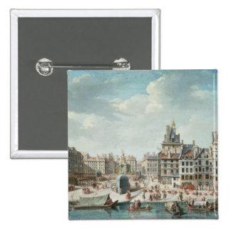 The Place de Greve, Paris Pinback Button