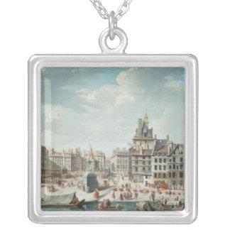 The Place de Greve, Paris Silver Plated Necklace