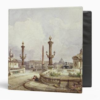 The Place de la Concorde, c.1837 3 Ring Binder