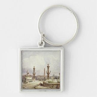 The Place de la Concorde, c.1837 Keychain