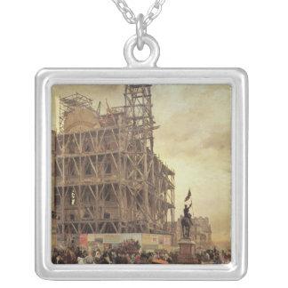The Place des Pyramides, Paris, 1875 Silver Plated Necklace
