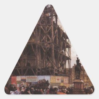The Place des Pyramides, Paris Giuseppe de Nittis Triangle Sticker