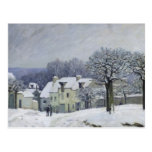 The Place du Chenil at Marly-le-Roi, Snow, 1876 Post Card