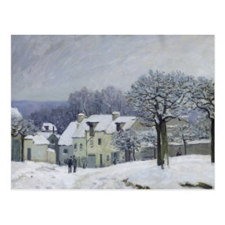 The Place du Chenil at Marly-le-Roi, Snow, 1876 Postcard