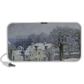 The Place du Chenil at Marly-le-Roi, Snow, 1876 iPod Speakers
