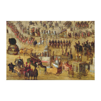 The Place Royale and the Carrousel in 1612 Canvas Print