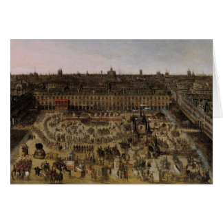 The Place Royale and the Carrousel in 1612 Card